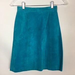Capezio Blue Suede Mini Skirt. Size 3/4